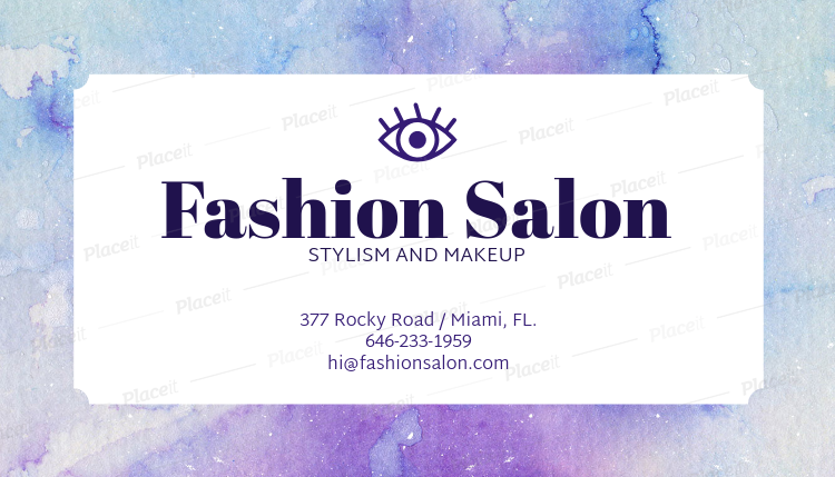 Placeit business card maker for makeup artists business card maker for makeup artists 67e foreground image reheart Choice Image