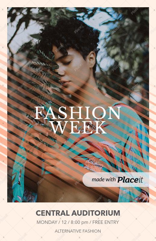 placeit online flyer maker to design a fashion show flyer