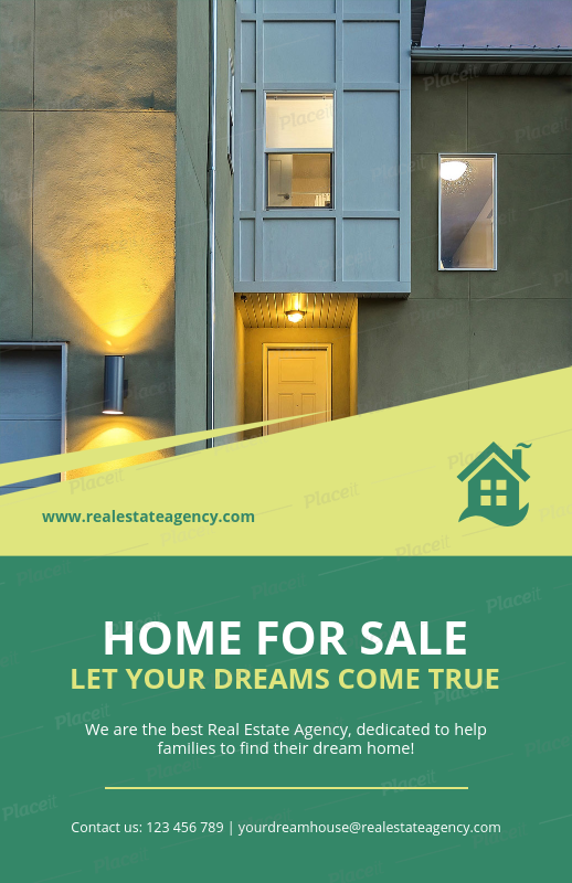 placeit real estate agent flyer template