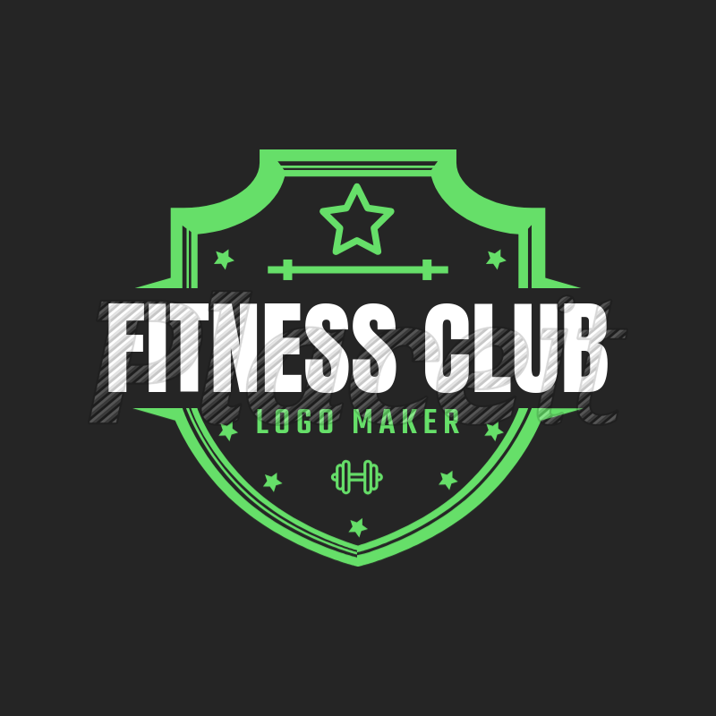 placeit fitness logo maker with shields