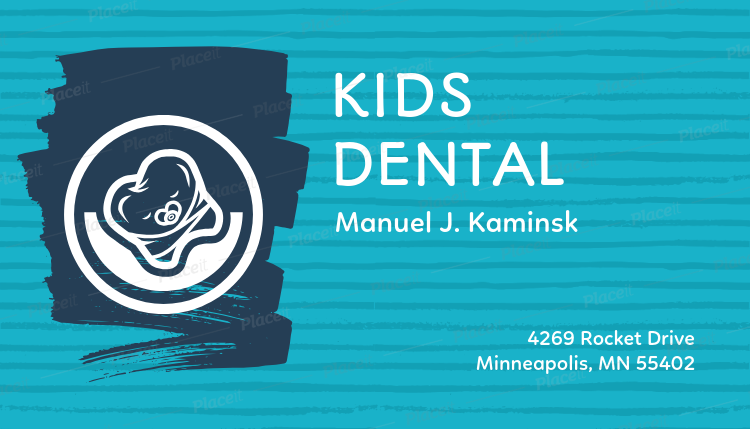 Placeit dental business card for a pediatric dentist dental business card for a pediatric dentist 70dforeground image colourmoves