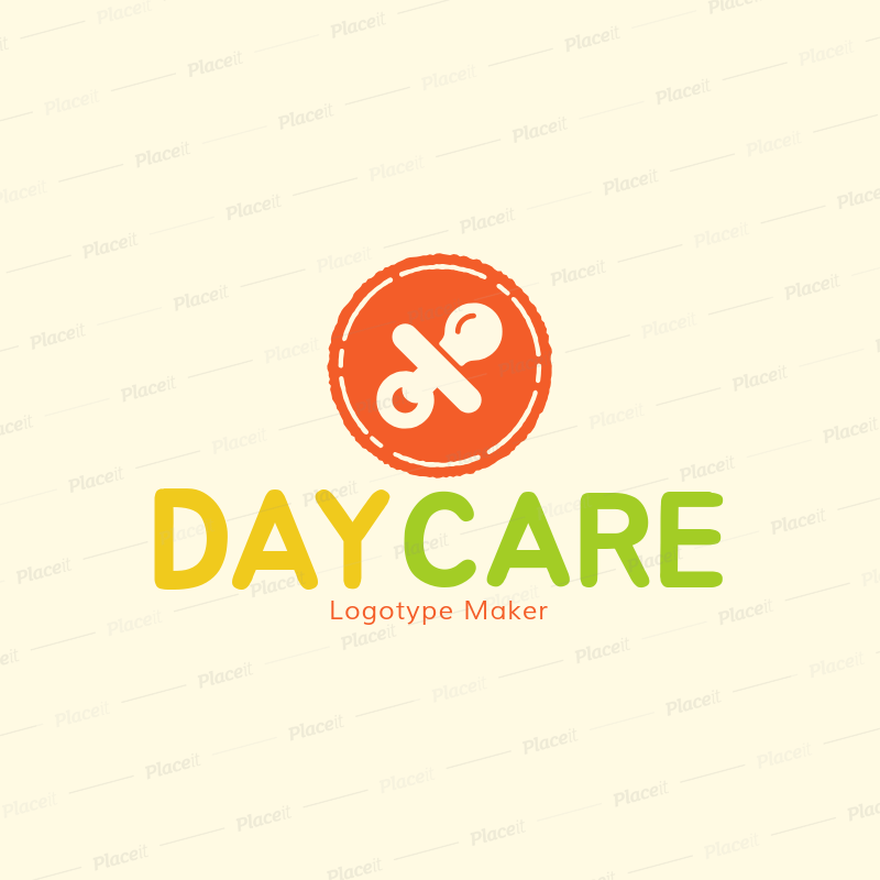 placeit daycare logo maker to design nursery logos