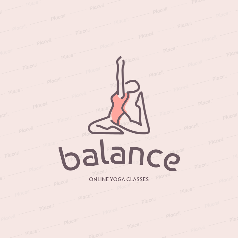 Placeit Logo Maker For Online Yoga Lessons