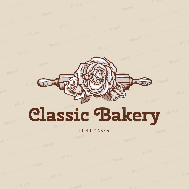placeit vintage bakery logo maker
