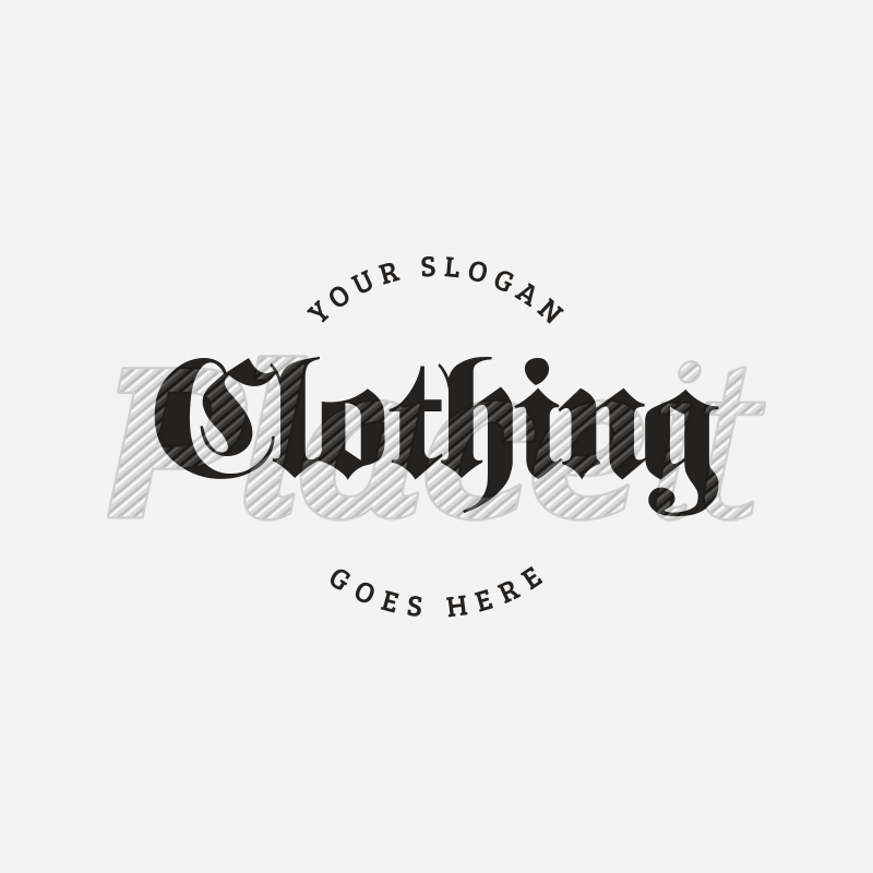 placeit cool goth logo template for clothing brand