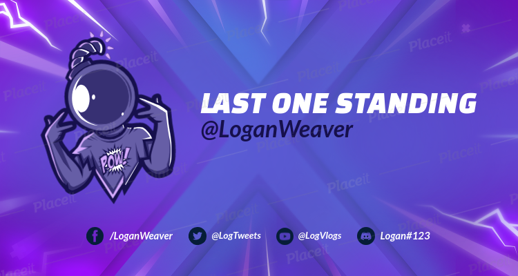 Placeit Fortnite Styled Twitch Banner Maker With A Cracked Background