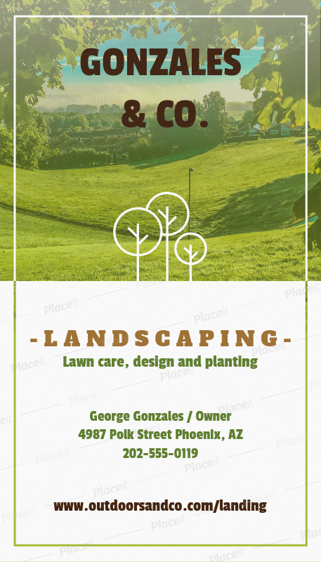 Placeit vertical landscaping business card template vertical landscaping business card template a124foreground image wajeb Choice Image