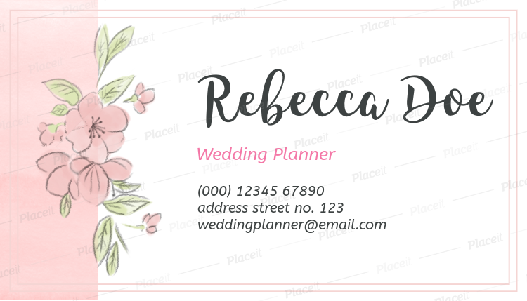 business card template for wedding planners 113foreground image - Wedding Planner Business Cards