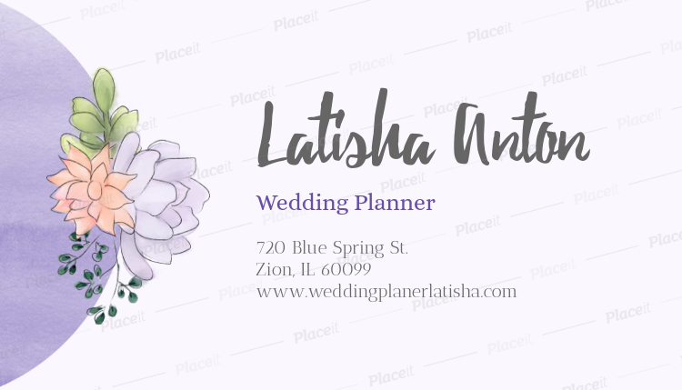 Placeit cute business card template for wedding planners cute business card template for wedding planners 113aforeground image wajeb Image collections