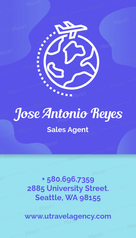 Placeit vertical business card template for travel agencies vertical business card template for travel agencies 338foreground image colourmoves