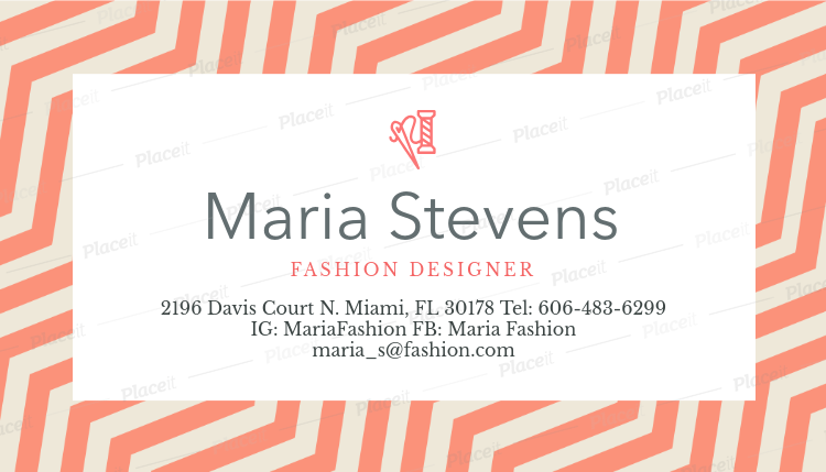 Placeit fashion designer business card maker fashion designer business card maker a138foreground image reheart Choice Image
