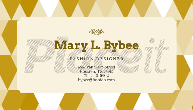 modern business card maker for fashion designers 138d foreground image - Fashion Designer Business Card