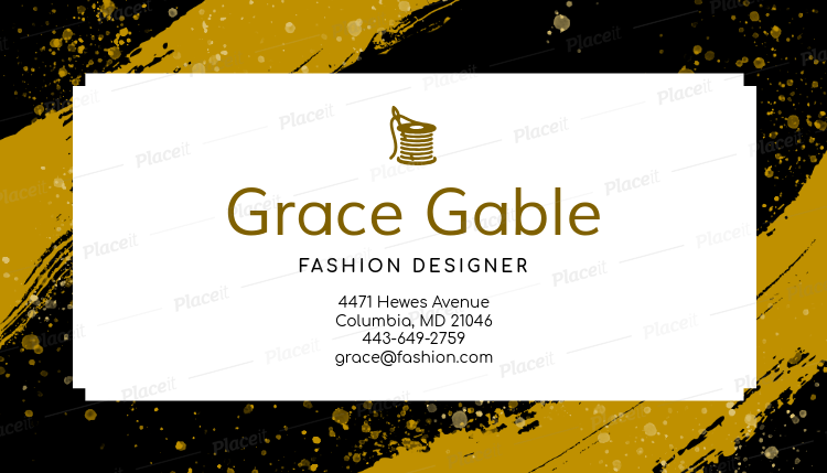 business card maker for high fashion designers 138e foreground image - Fashion Designer Business Card