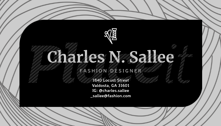 business card maker for fashion designers 138a foreground image - Fashion Designer Business Card