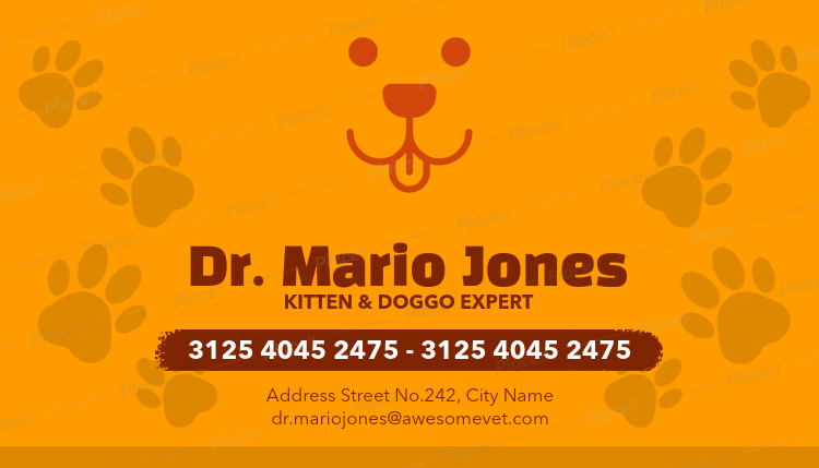 Veterinarian Business Cards Maker A144Foreground Image
