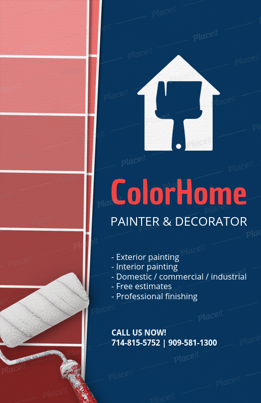 placeit online flyer maker for a painting and decoration business