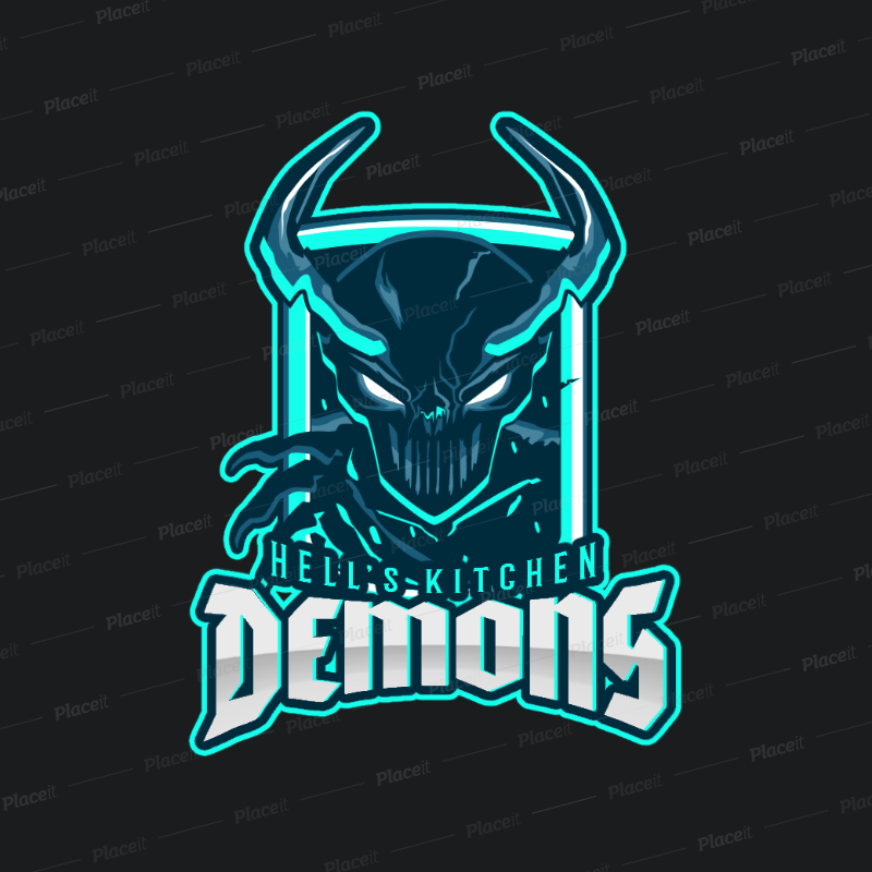 Placeit Rts Gaming Logo Maker With Demon Graphics