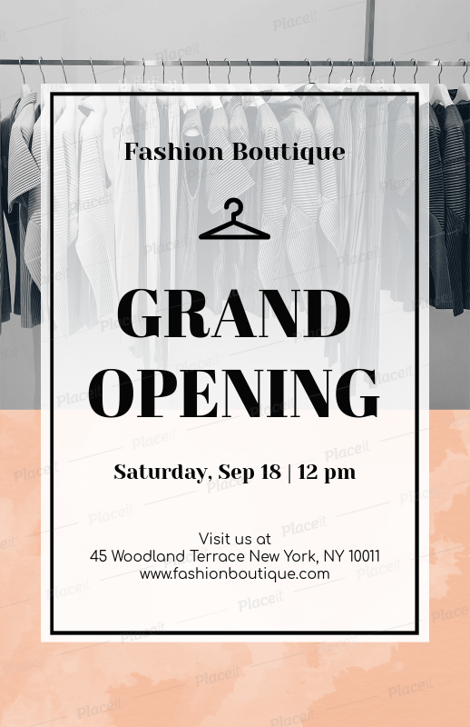placeit online flyer maker to design flyers for a grand opening