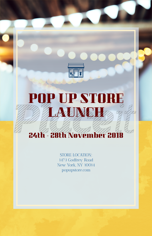 placeit online flyer maker for store launch