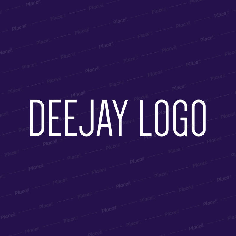 Placeit DJ Logo Generator
